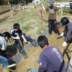 畑プロジェクト3月9日の様子