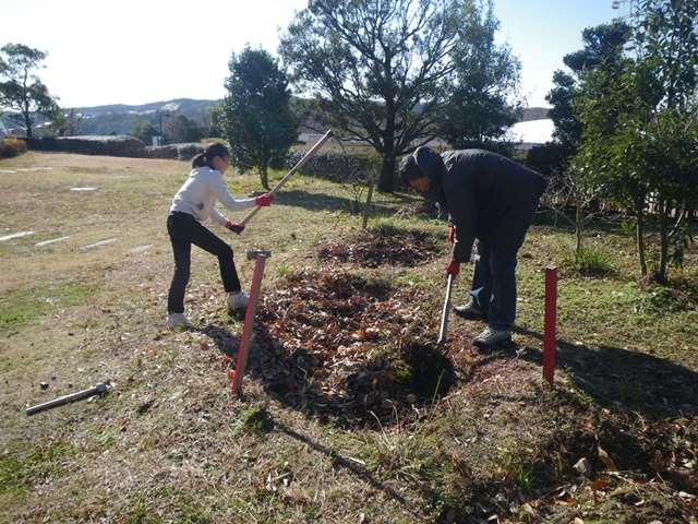 畑プロジェクト12月27日の様子